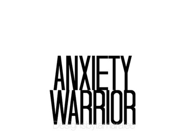 Digital Anxiety Warrior Print // Wall Art Print // Fashion // Mental Health Awareness // Scandinavian // Boho // Modern // TLB000401