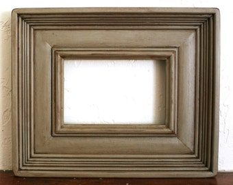 Sizes 8x10 to 12x12 Wood Picture Frame / Flagstone Gray / Empire Style