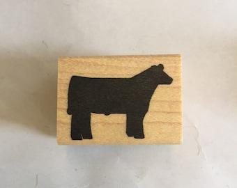 Steer scrapbook stamp