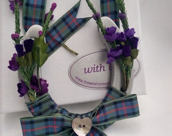 Flower of Scotland Tartan Wedding Horseshoe