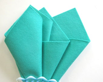 Sea Green Felt, 100% Wool, Choose Size, Mint, Lucite Green, Applique, Felt Crafts, Die Cutting, DIY Craft Supply, Toxin Free, Washable