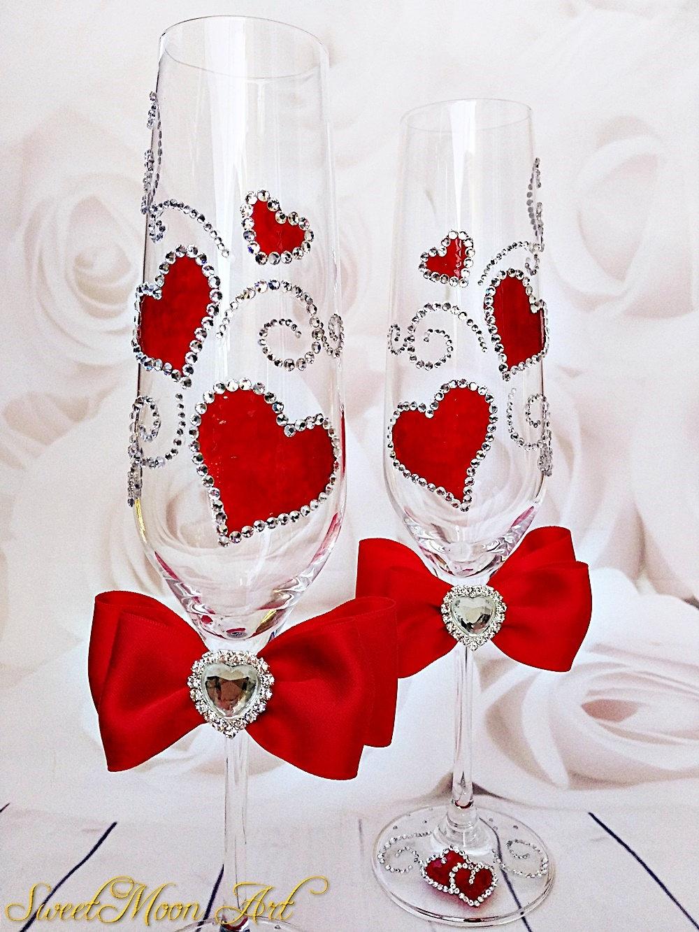 Copas Champagne Rojas Flutas Boda Rojas Flautas Champagne # Champagne Muebles Uy