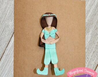 Princess Jasmine Clip - Princess Jasmine Hair Bow - Ribbon Sculpture - Toddler Hair Clip - Disney Princess - Girl Clippie