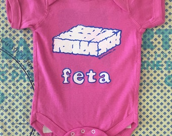 Feta Cheese Greek Baby Onesie - Greek gift