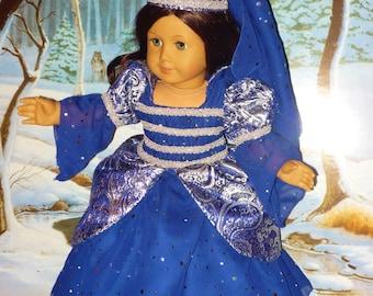 Costume de princesse étincelante bleu nuit s'adapte à American Girl poupées