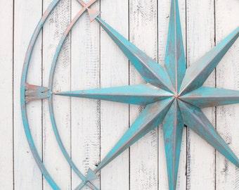 Nautical Compass, Metal Compass Wall Decor, Metal Wall Art, Beach Decor, Wall Compass Decor, Metal Wall Compass, Beach Wall Art, Compass Art