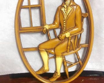 Syroco Wood Plaque ~ George Washington