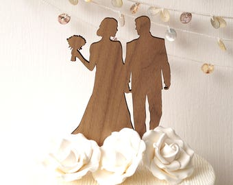 Silhouette wedding cake topper, Bride and Groom cake topper, couple cake topper, wedding silhouette, wedding figurine topper