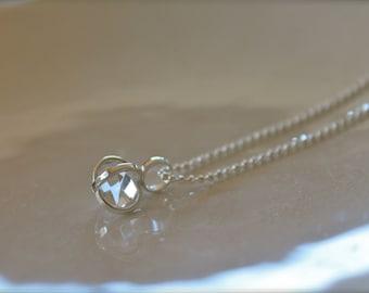 Herkimer Diamond Necklace - Sterling Silver
