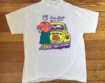 1990's Fido Dido Volkswagon Vintage Bootleg T Shirt