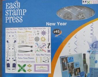Fiskars lot de 45 Tampons Clear  sur le thème New Year