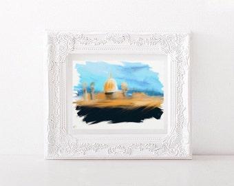 Islamic Art, Digital download Art, Abstract Mosque / Masjid Art, InspireDeen Art, Quran Art.  Inspirational Digital Art, Modern Islamic Art