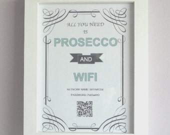All You Need Is... WIFI Password Picture with NFC for auto-connection & QR code