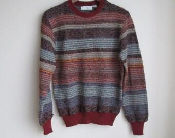 Vintage 70s Nubbly Striped Sweater