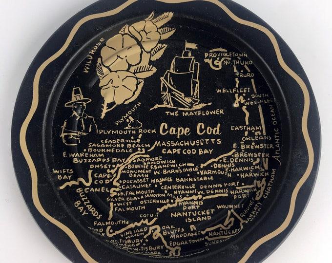 Pair Vintage Cape Cod Drink Coasters