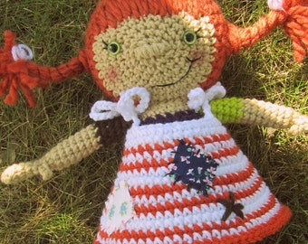 Pippi Longstockings Corchet Doll