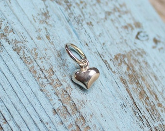 Mini Heart Charm, Sterling Silver