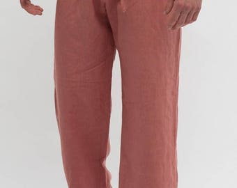 Linen Men Pajama Pants