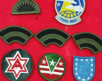 Lot of 8 Vintage US Military Patches