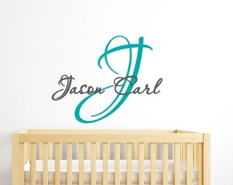 wall decal name baby boy wall sticker easy wall decor for children custom colors