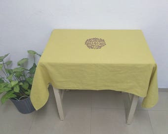 Customized Tablecloth X mas Gift Customize Tablecloth Linen Tablecloth Christmas Gift Table cloth Table Cover Personalized Linen