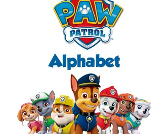 Paw Patrol Alphabet SVG, Font Paw Patrol, Paw Patrol Silhouette, Cut files for cameo cricut