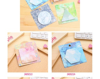 Shape v2 Circle/Triangle/Hexagon/Square Post IT Notes Sticky Memo