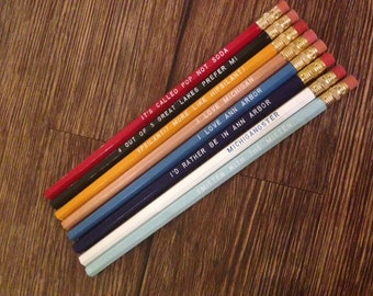 Michigan Pride Pencil Set of 8