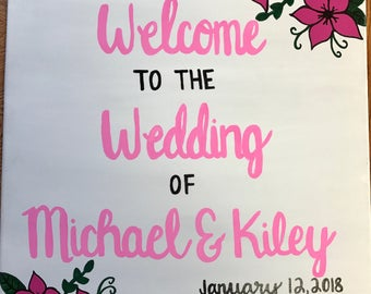 Welcome to the wedding of [insert] wedding sign