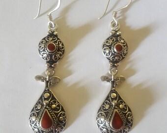 Morocco – Pair of Moorish silver earrings
