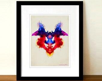 "Psychology print -""Inkblot 01"" 8.5"" x 11"", Rorschach test, Neurologist Gift, Psychologist gift, Neurosurgeon gift, Psychiatrist gift"