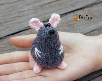 Miniature mouse figurine Stuffed mouse Animal lover gift Plush mouse toy Tiny mouse lover gift Collectible miniature animals Stuffed animals