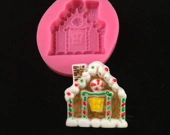 Holiday Gingerbread House Silicone Mold