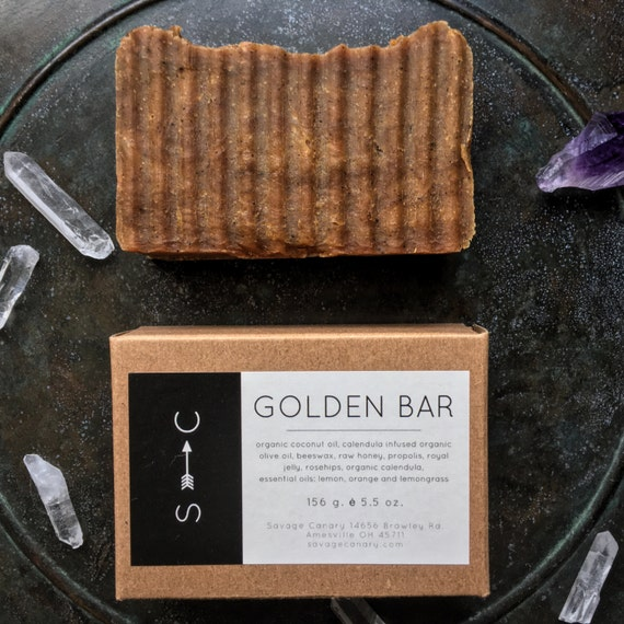 The Golden Bar- Luxurious Complexion Bar with Propolis, Calendula and Turmeric