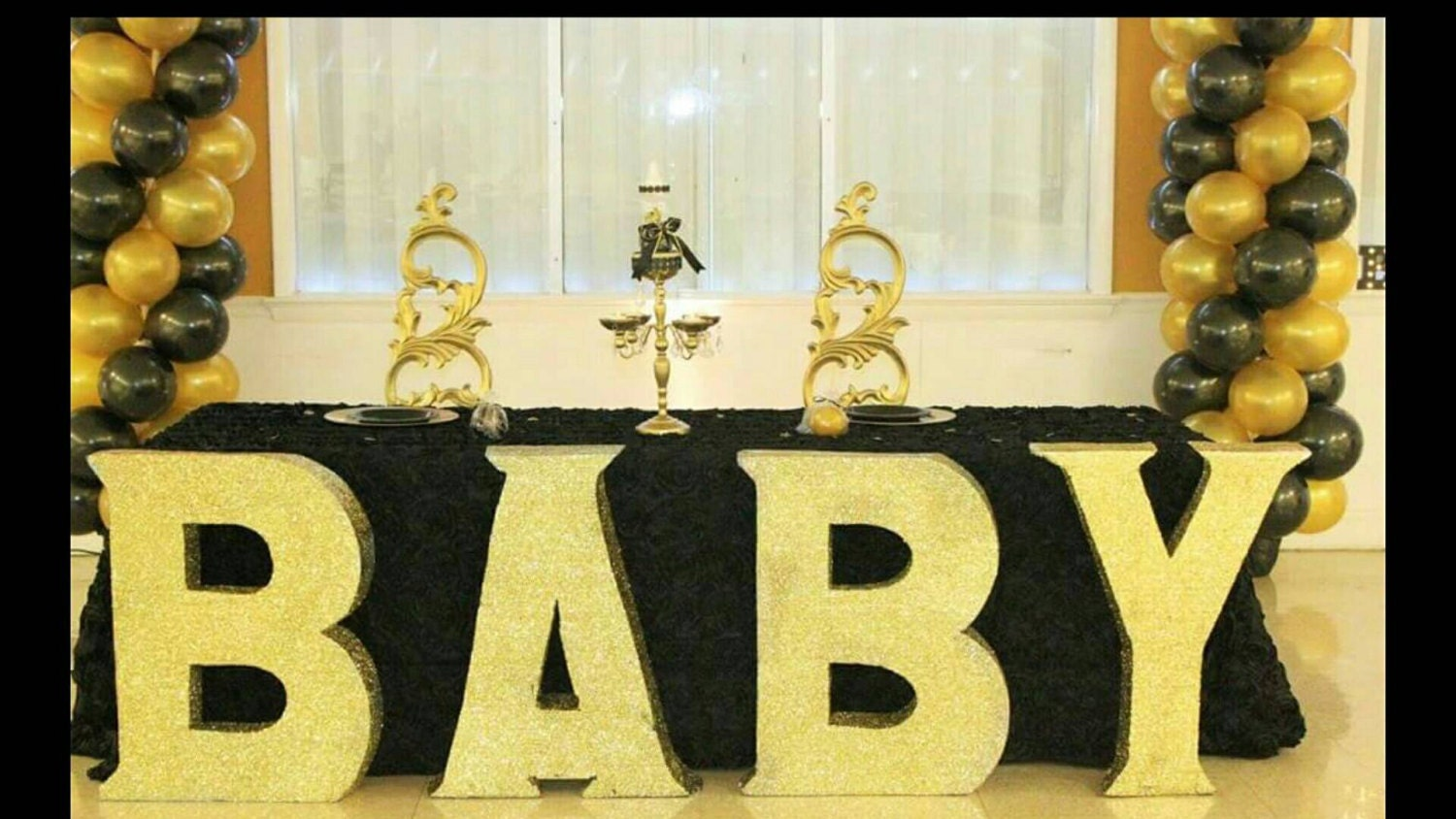 BABY Large baby block letters free standing letters white