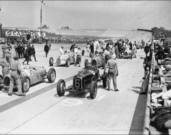 Poster, Many Sizes Available; Grid Of The 1934 French Grand Prix