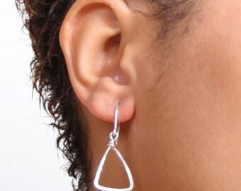 Tiny Triangle Earrings