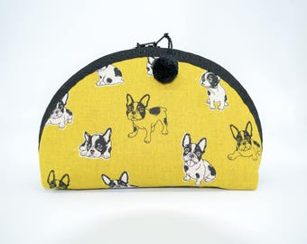 Herbie Medium - cosmetic bag / make up pouch / purse organizer / French bulldog / gift for dog lover