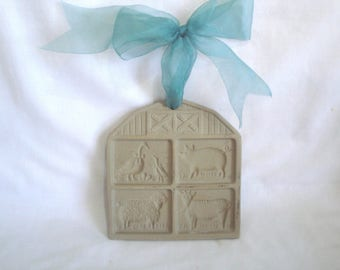1994 Pampered Chef Cookie Mold Press Farmyard Friends
