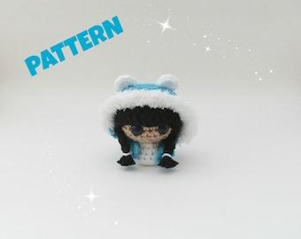 Amigurumi Polar Bear Girl Doll Pattern, Crochet Amigurumi Pattern, Crochet Doll Pattern, Amigurumi Pattern, Amigurumi Doll Pattern, Doll Toy