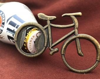Bottle Opener Bicycle , Rustic Vintage Look, Party Favors, Groomsmen, Wedding Gifts,  Gift