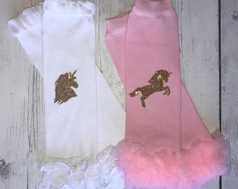 Unicorn leg warmers baby, Unicorn leggings for babies