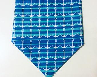 Blue Anchor Dog Bandana