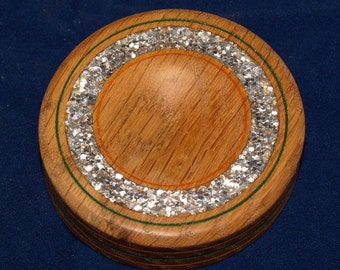 Spindle bowl with Silver Sparkles