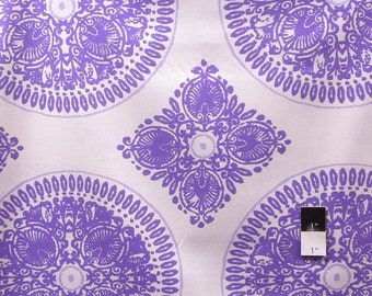 Ty Pennington PWTY020 Impressions Fall 11 Medallion Lavender Cotton Fabric 1 Yard