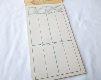 Vintage Bridge Score Pad, Bruelheide Contract Score