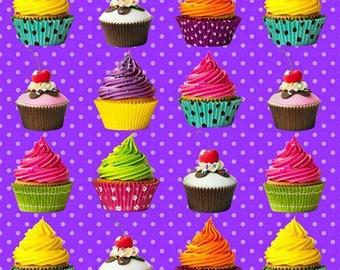 Euro Cupcakes import knit cotton lycra Fat Half