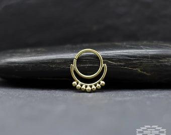 Silver moon Septum, Septum piercing, Septum ring, nose ring septum, indian septum, nose piercing, tribal jewelry, tribal septum