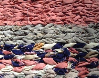 Hand twined rug