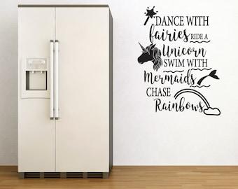 Fairies, Mermaids Wall Sticker Quote